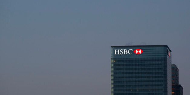London, United Kingdom - March 21, 2015: The HSBC Bank headquarters in Canary Wharf. The bank has recently...