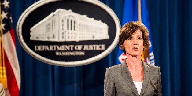 WASHINGTON, DC - JUNE 28: Deputy Attorney General Sally Q. Yates speaks during a press conference at...