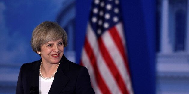 Britain's Prime Minister Theresa May speaks during the
