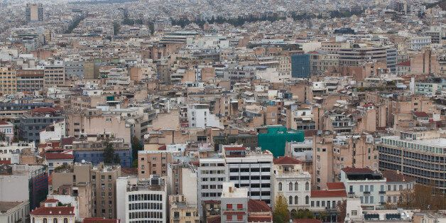 Panoramic view of the capital of Greece