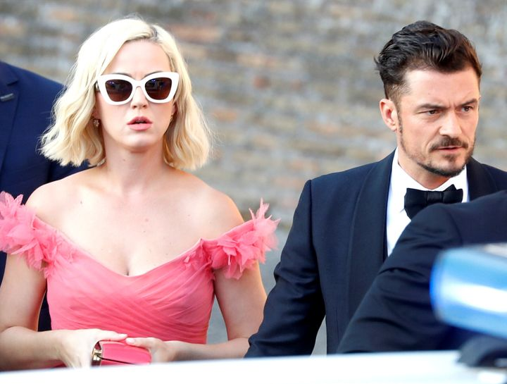 Katy Perry and Orlando Bloom make their entrance.