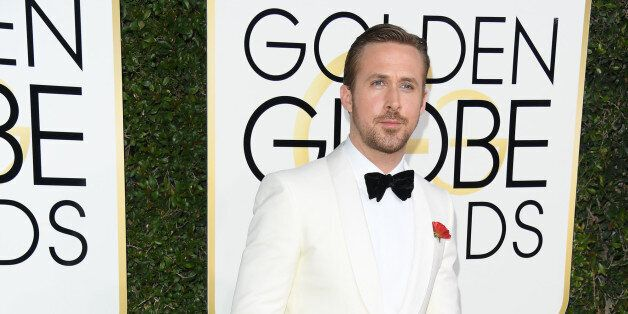BEVERLY HILLS, CA - JANUARY 08: Actor Ryan Gosling attends 74th Annual Golden Globe Awards held at The...