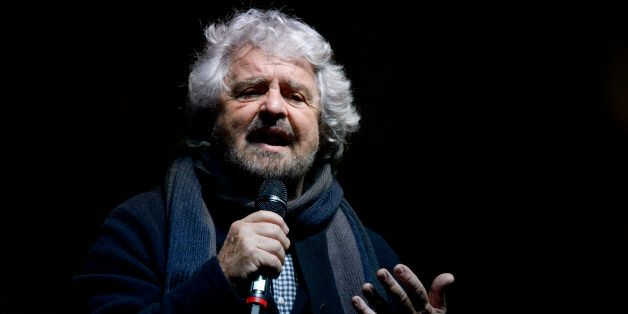 PIAZZA SAN CARLO, TURIN, ITALY - 2016/12/02: Beppe Grillo, founder of the Movimento 5 Stelle (Five Star...