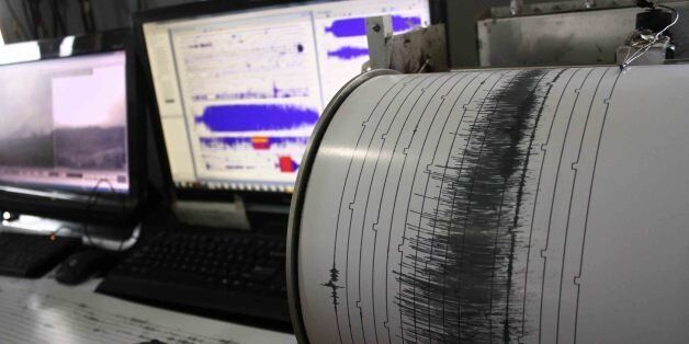 KARO, INDONESIA - MAY 23: Seismograph showed higher activity of volcano Sinabung on May 23, 2016 in Karo,...