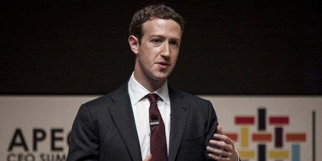 Mark Zuckerberg, founder and chief executive officer of Facebook Inc., speaks during the Asia-Pacific...