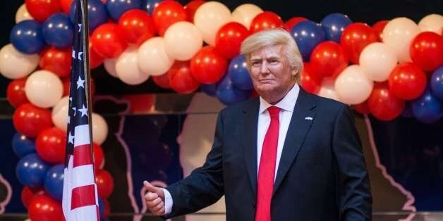 MADRID, SPAIN - 2017/01/17: Donald Trump wax figure presented in the Wax Museum of Madrid. (Photo by...
