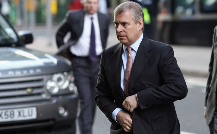 Prince Andrew The Duke of York arrives at the Headquarters of CrossRail in Canary Wharf on March 7, 2011 in London. Prince An