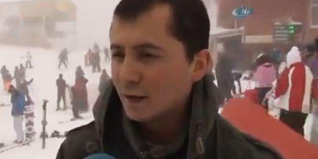 Μια χιονοστιβάδα και μερικοί εγκλωβισμένοι δεν σταμάτησαν αυτόν τον άνδρα που μιλούσε στην