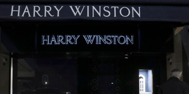 General view outside the luxury jewellers Harry Winston boutique after a robber stole diamonds worth...