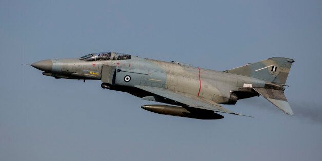 A Hellenic Air Force F-4E Phantom during joint exercise INIOHOS 2016 in Andravida,