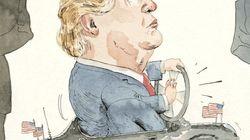 Ο Τραμπ «παίζει» με το προεδρικό αμαξάκι του στο εξώφυλλο του New
