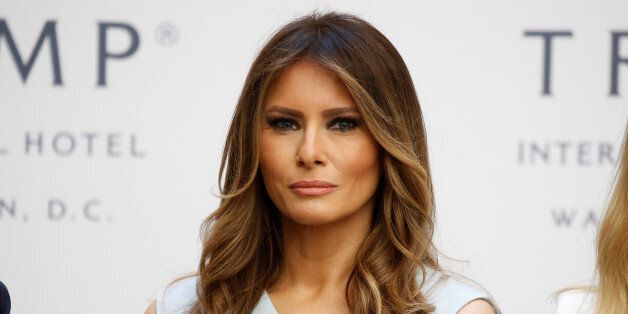 Republican presidential nominee Donald Trump's wife Melania Trump attends a campaign event in Washington,...