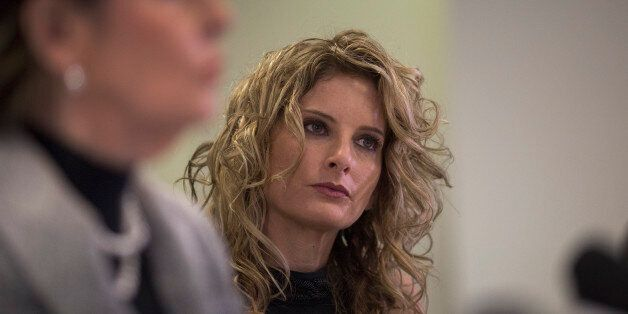 LOS ANGELES, CA - JANUARY 17: Summer Zervos attends a press conference with attorney Gloria Allred (L)...