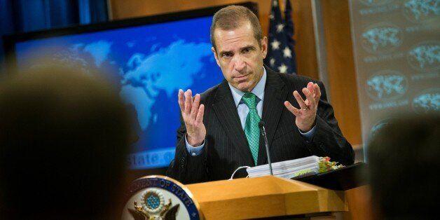 WASHINGTON, USA - FEBRUARY 17: Deputy Spokesperson Mark Toner gives the daily press briefing at the U.S....