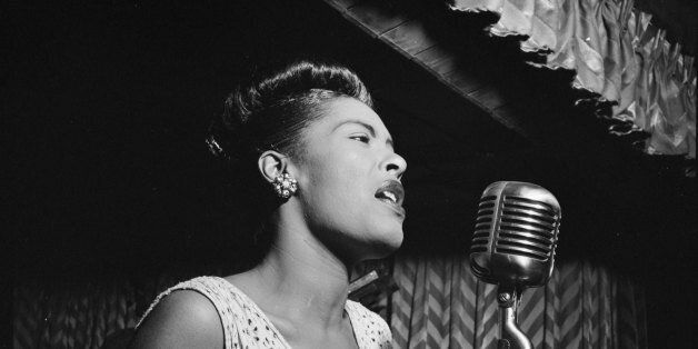 UNITED STATES - February 1947: Photo of American jazz singer Billie Holiday (1915 - 1959) performing...