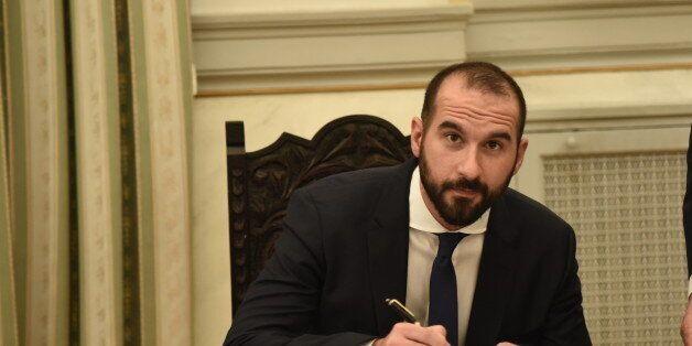 PRESIDENTIAL MANSION, ATHENS, ATTIKI, GREECE - 2016/11/05: New Minister of State Dimitris Tzanakopoulos,...