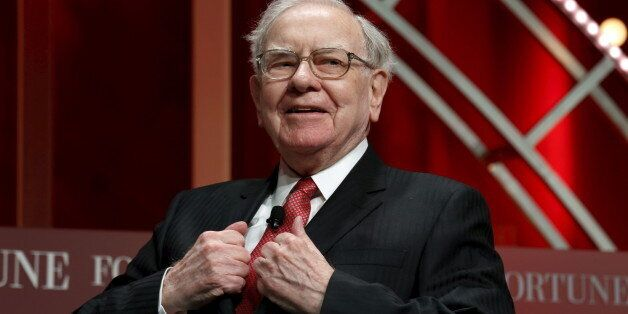 Warren Buffett, chairman and CEO of Berkshire Hathaway, prepares to speak at the Fortune's Most Powerful...