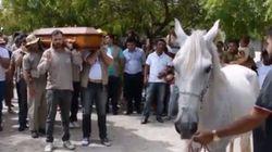 Σπαρακτικό βίντεο: Ο θρήνος ενός αλόγου στην κηδεία του ιδιοκτήτη