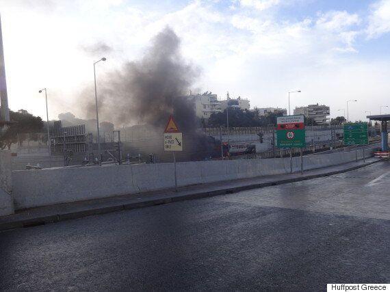 Φωτιά ξέσπασε σε φορτηγό στην Αττική