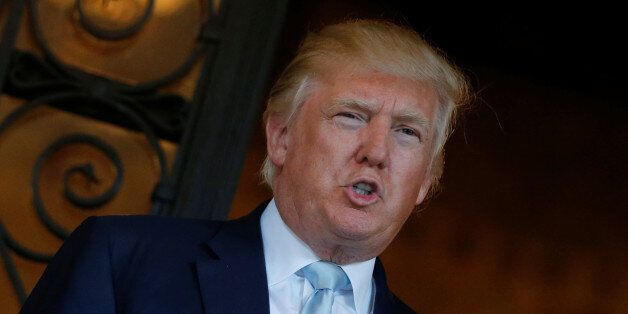 U.S. President-elect Donald Trump delivered brief remarks to reporters at the Mar-a-lago Club in Palm...