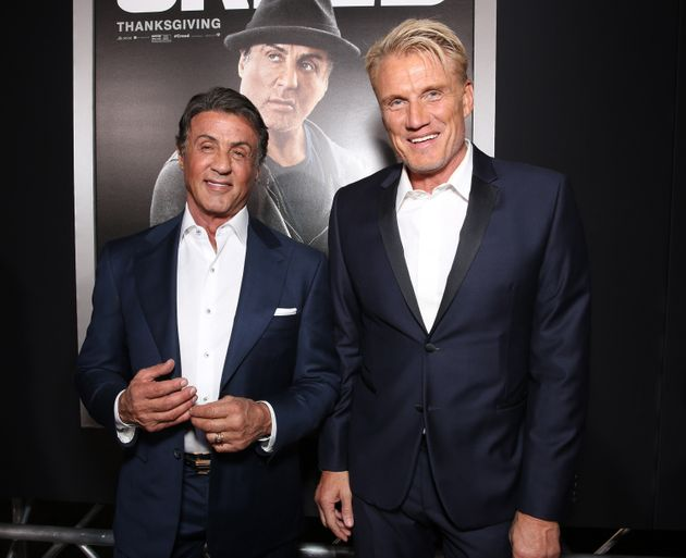 Stallone and Lundgren attend the premiere of