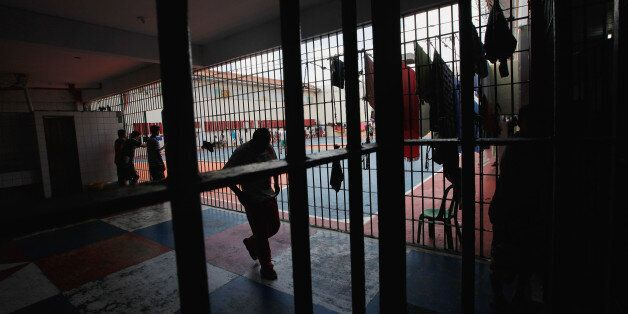 MANAUS, BRAZIL - FEBRUARY 18: Inmates gather in the overcrowded Puraquequara prison on February 18, 2016...