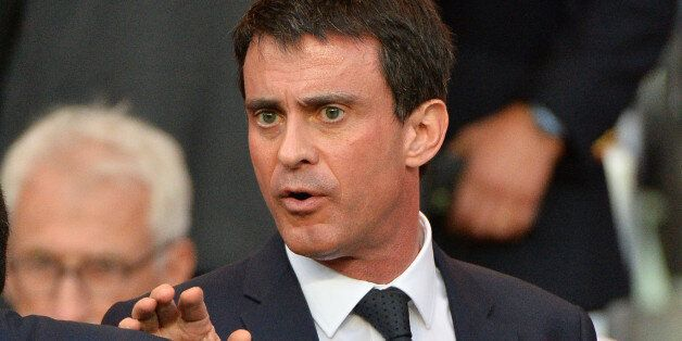 French premier minister Manuel Vals during the UEFA Champions league Quarter-Final first leg football...