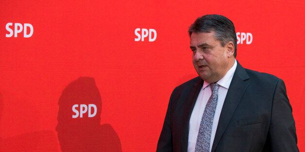 German Vice Chancellor, Economy Minister and Chairman of the Social Democratic Party (SPD) Sigmar Gabriel...