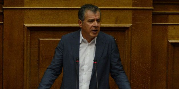 Stavros Theodorakis, To Potami during parliamentary dispute at level of Party leaders on the topic of...