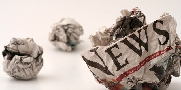 ball of generic newspapers with the word NEWS visibleView other variations of the