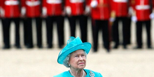 Britain's Queen Elizabeth attends the Trooping the Colour ceremony in London June 14, 2008. Trooping...