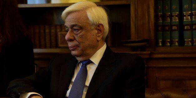 PRESIDENTIAL MANSION, ATHENS, ATTIKI, GREECE - 2016/11/28: President of Hellenic Republic Prokopis Pavlopoulos...