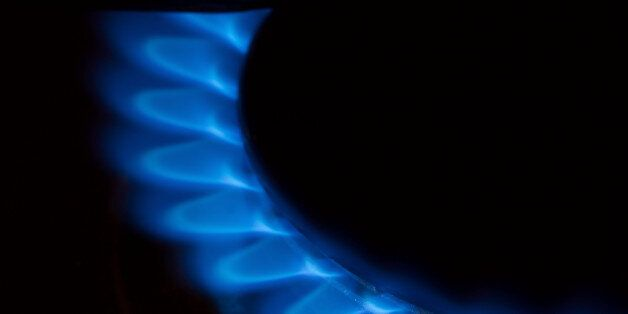 Gas flame of a stove in the
