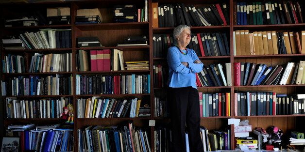 WASHINGTON, DC - JANUARY 14: World famous astronomer Vera Rubin, 82, in her office at Carnegie Institution...