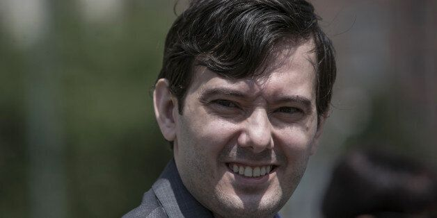Martin Shkreli, former chief executive officer for Turing Pharmaceuticals AG, leaves Federal Court in...