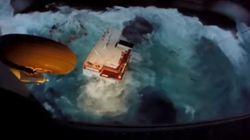 Καρέ καρέ η δραματική διάσωση των ναυτικών στην