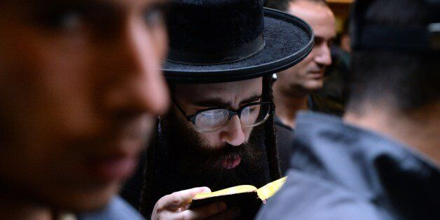 Ultra orthodox Jews offer prayers in the small Ukrainian city of Uman, some 200 kms south of Kiev on...
