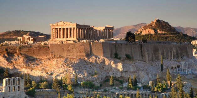 Greece, Athens, View of the Acropolis and the city