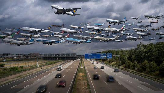 Να τι θα γινόταν αν τα αεροπλάνα πετούσαν σε σμήνη όπως τα