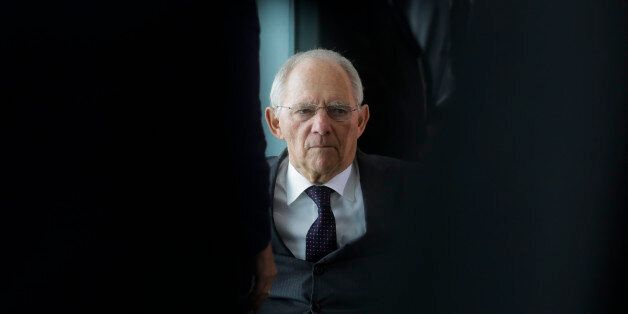 German Finance Minister Wolfgang Schaeuble arrives for the weekly cabinet meeting of the German government...