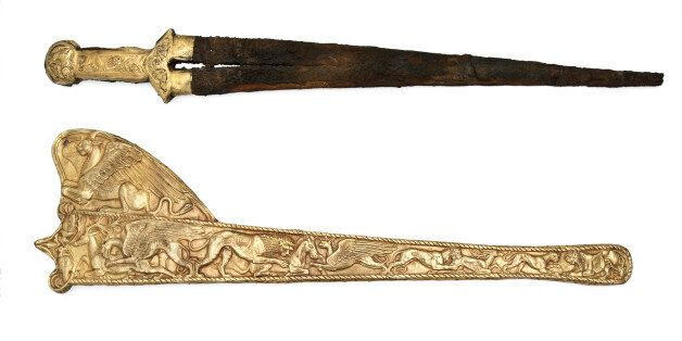 Sword with Sheath, 6th-5th cent. BC. Found in the collection of Ukrainian National Academy of Sciences,...