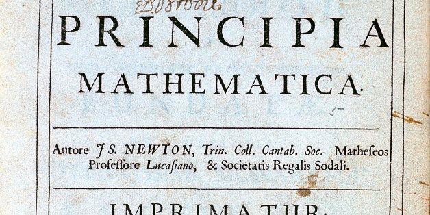 Title page of Newton's Philosophiae Naturalis Principia Mathematica, 1687. English scientist and mathematician...