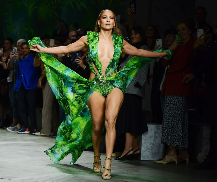 Jennifer Lopez Closed The Versace Show In The 2019 Version Of THAT Dress