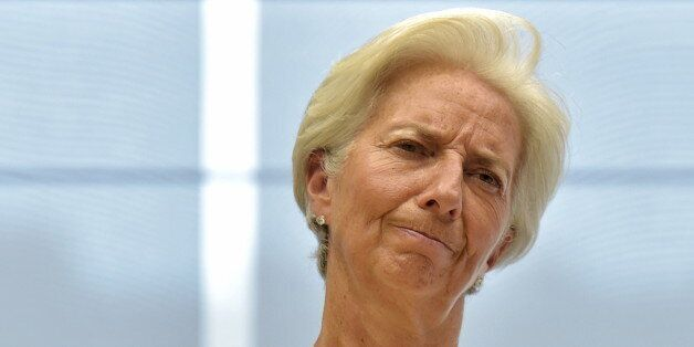 International Monetary Fund (IMF) Managing Director Christine Lagarde takes part in a euro zone EU leaders'...