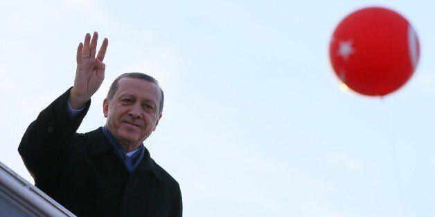 IZMIR, TURKEY - DECEMBER 23 : Turkish President Recep Tayyip Erdogan attends the opening ceremony of...