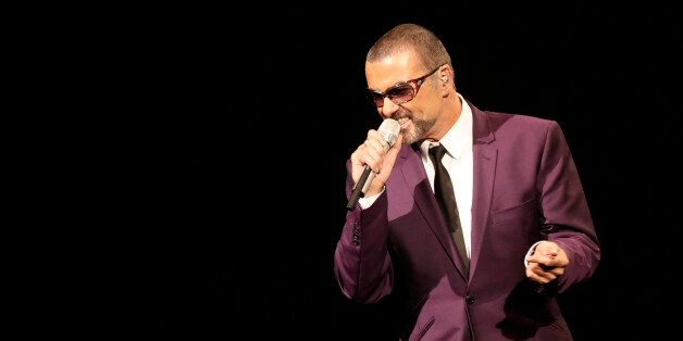 British singer George Michael performs on stage during