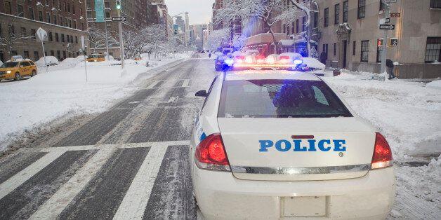 USA, New York City, police car on Park