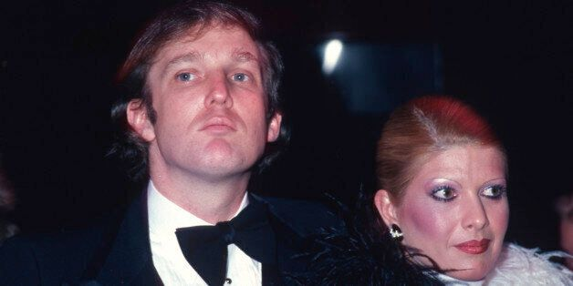 NEW YORK, NY - 1980: Donald Trump and Ivana Trump attend Roy Cohn's birthday party in February 1980 in...