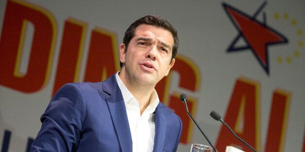 Greek Prime Minister Alexis Tsipras is speaks during the 5th congress of the Party of the European Left...