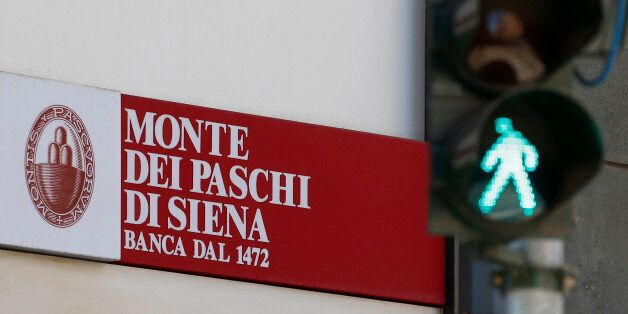 A view of a ' Monte Dei Paschi di Siena ' bank branch in Milan, Italy, Monday, Aug. 1, 2016. Shares in...